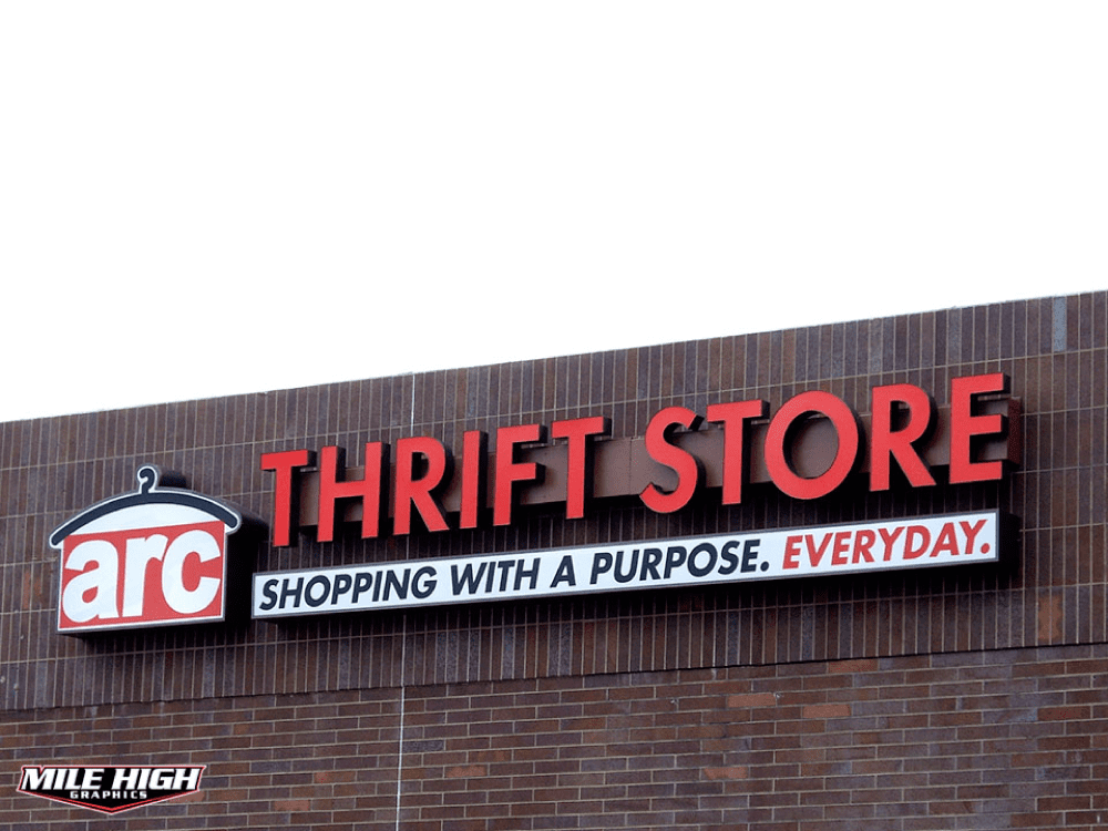 Channel Letters by Mile High Graphics for Arc Thrift Store