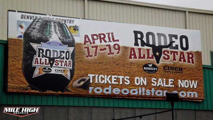 Photo of a Rodeo All Stars Billboard by Mile High Graphics for National Western Stock Show