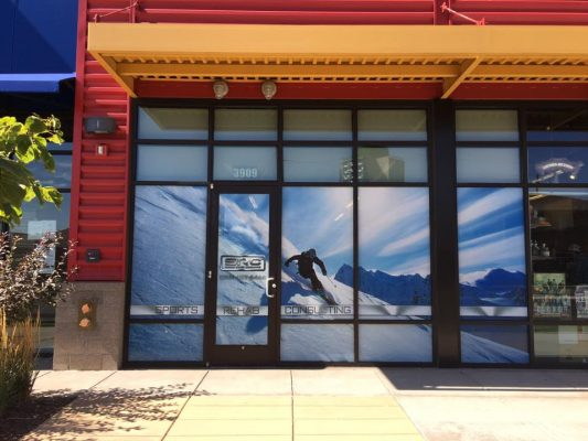 Photo of Custom Window Graphics by Mile High Graphics for Sports Rehab Consulting